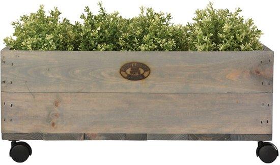 Grote Houten Plantenbak Op Wielen.Esschert Design Houten Plantenbak Op Wielen Fsc 59x59x25cm