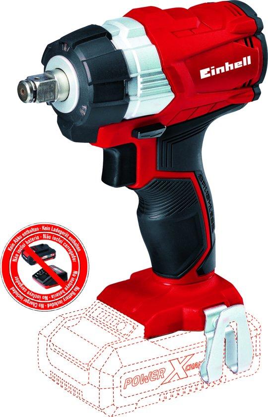 """EINHELL Accu Slagmoersleutel TE-CW 18 Li BL Solo - Power-X-Change - Koolborstelloos - 18 V - 215 Nm - 1/2"""" aansluiting - Inclusief bit-adapter - Zonder accu & lader"""