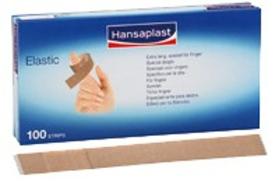 Hansaplast® vingerverband, luchtdoorlatend, 100/VE, 120 x 20 mm