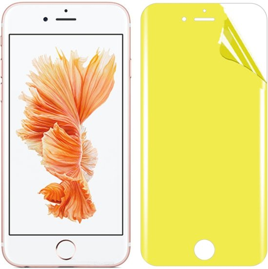 Let op type!! Voor iPhone 6s plus Soft TPU volledige dekking front Screen Protector