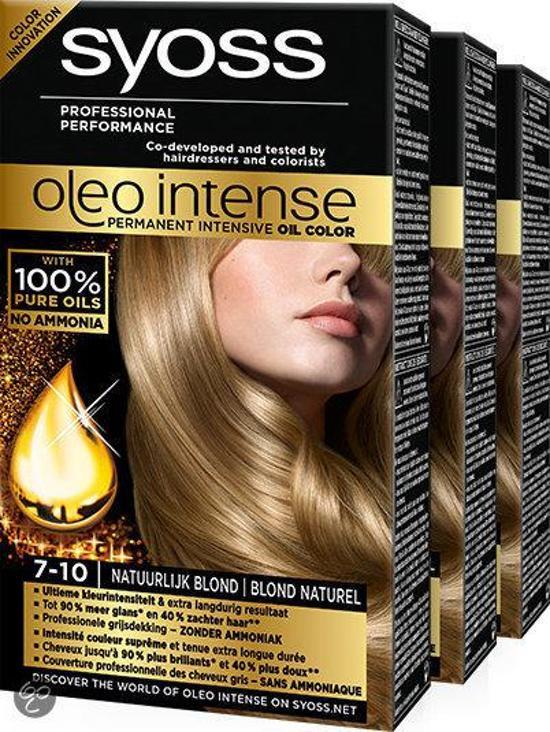 Syoss Oleo Intense 7-10 Natuurlijk blond - 3 st - voordeelverpakking