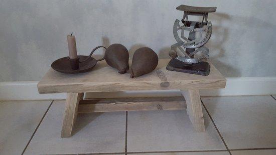 Hand gemaakte steigerhouten Sloophouten bankje krukje 60x20 cm