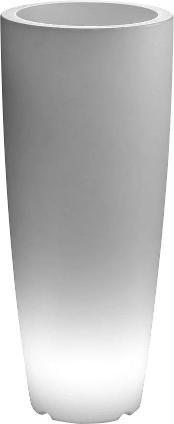 bol.com | ARCA Verlichte bloempot SHUTTLE rond, 100 cm hoog ...