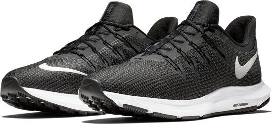 Nike Quest Sportschoenen Heren - Black/Mtlc Silver-Dk Grey-Anthracite-White