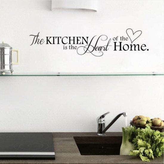 Muurstickers Den Haag.Bol Com Muursticker The Kitchen Is The Heart Of The Home Met