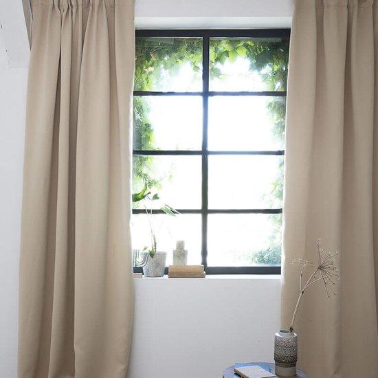 bol.com | Lifa Living gordijnen 3 x 2,5 meter - Beige