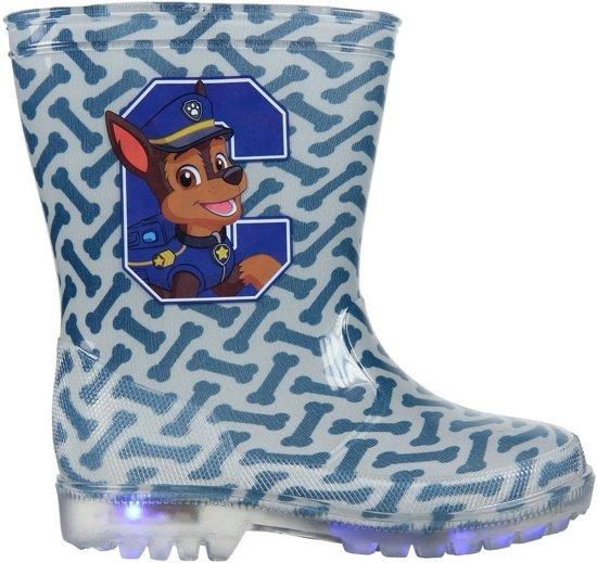 Blauwe Paw Patrol Chase regenlaarzen met LED lichtjes voor jongens - Kinderlaarzen 25