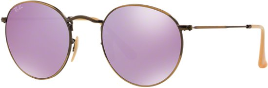45982a87dff1a6 Ray-Ban RB3447 167 4K - Round Metal (Flash) - Brons-