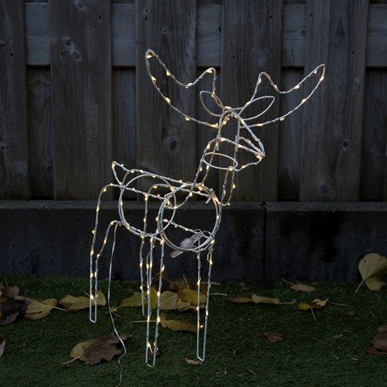 Kerstverlichting Rendier LED warm wit 60cm