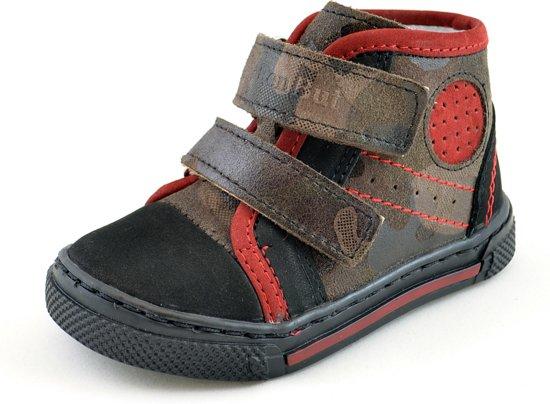 3f76207e80f bol.com | Half hoge leren jongens schoenen met leger print - Maat 20