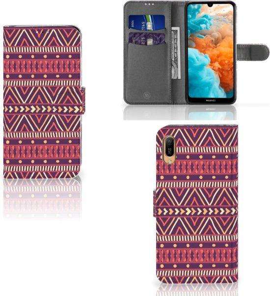 Huawei Y6 (2019) Telefoon Hoesje Aztec Purple