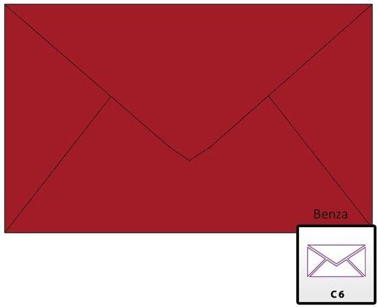 Benza Wenskaart Enveloppen 16,2 x 11,4 cm Kerst Rood (50 stuks)