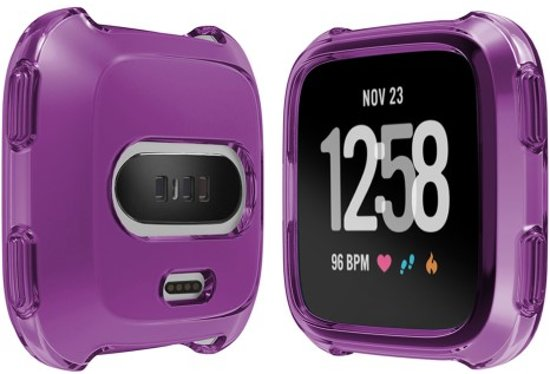 Soft Protective TPU Case Shell for Fitbit Versa - Paars