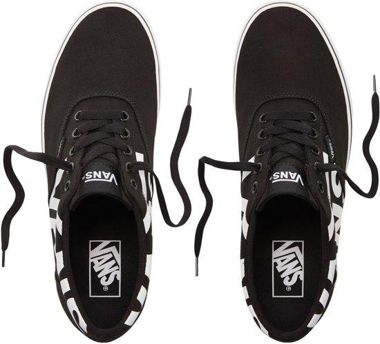 Maat Logo Doheny Black Sneakers big 44 5 Vans white Heren qACfTO