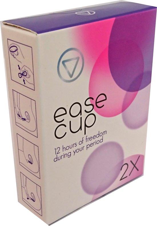 EaseCup Herbruikbare Menstruatiecup - 2 stuks