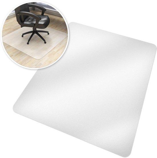 Tectake - Vloerbeschermende mat 150 x 120 cm  - wit - voor bureaustoelen 401697