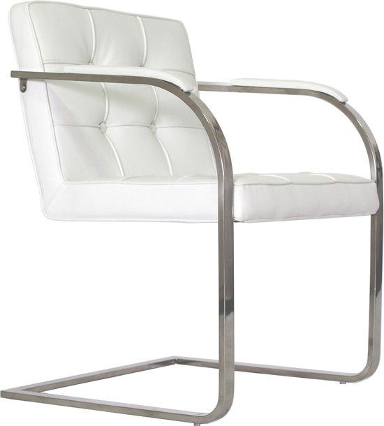 Bauhaus 9 vaks stoel wit sledemodel for Bauhaus design stoelen