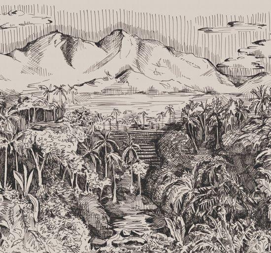 Stapelgoed - Fotobehang - Jungle landschap - 300x280cm