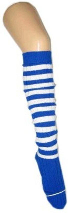 Kniekousen blauw/wit 41-47