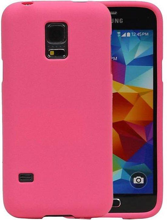 Samsung Galaxy S5 mini Hoesje Sand Look TPU Roze