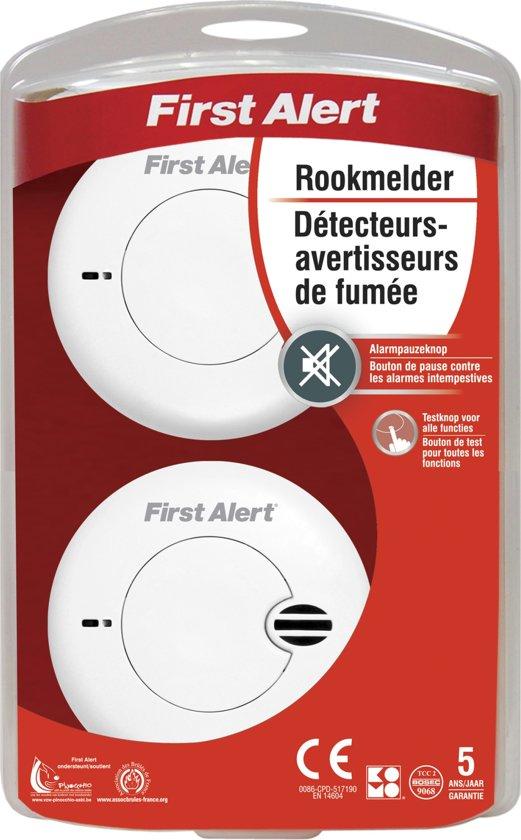 First Alert Brandalarm - Compact duo - Incl. AAA batterij