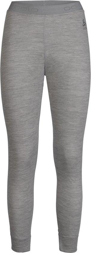 Odlo Suw Bottom Pant Natural 100% Merino Warm Dames Thermobroek - Grey Melange - Maat S