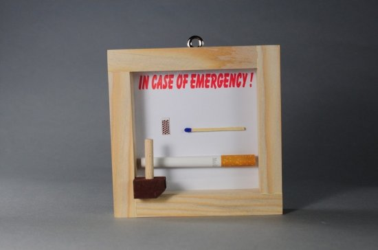 Noodgeval box sigaret
