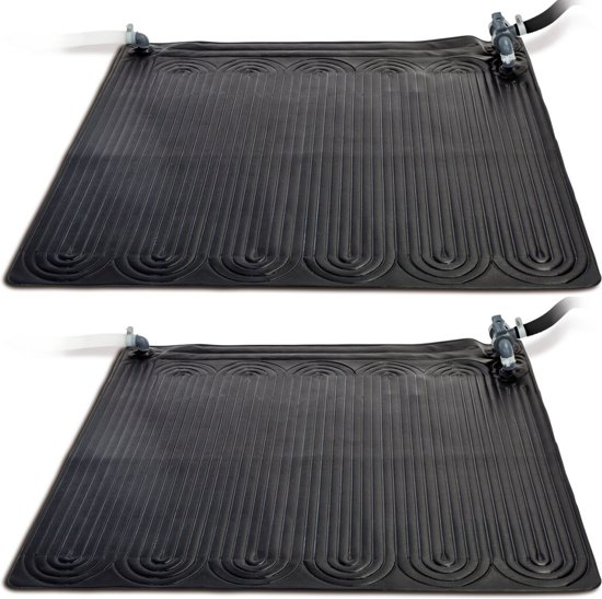 Intex Verwarmingsmat op zonne-energie 2 stuks PVC 1,2x1,2 m Zwart 28685