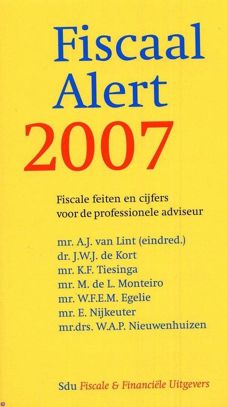 Cover van het boek 'Fiscaal Alert 2007'