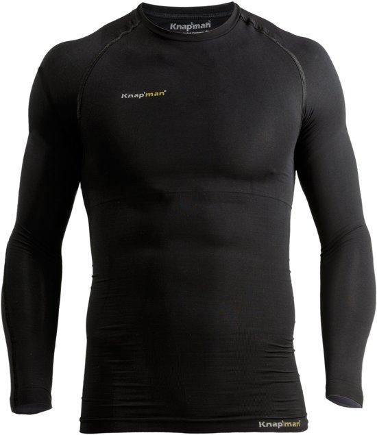 best loved 56244 94d9a Knapman Thermo Active Compressie Longsleeve Shirt Heren Sportshirt - Maat M  - Mannen - zwart