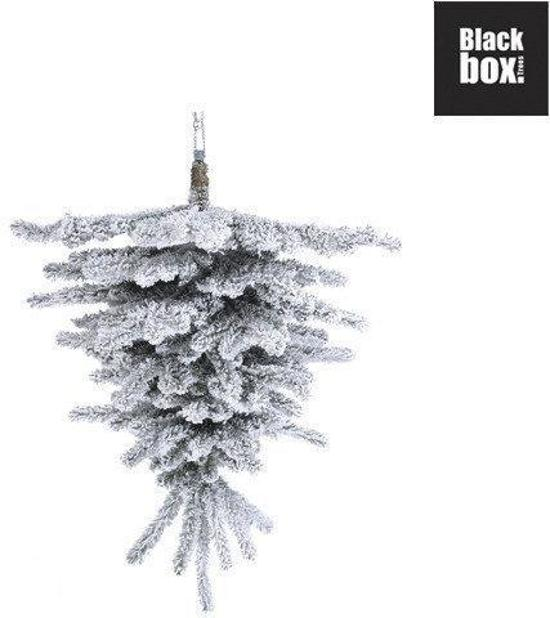 black box alaska pine kunstkerstboom half wall upside down 120 cm hoog zonder