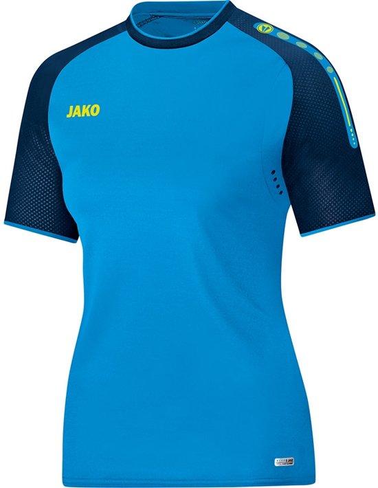 Jako Champ Dames T-Shirt - Voetbalshirts  - blauw licht - 42