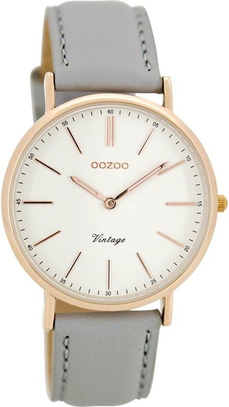 OOZOO Vintage C8141 Grijs/Wit horloge 36mm