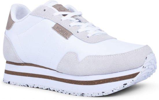888ec427a5b bol.com | WODEN Dames Sneakers Nora Ii Plateau - Wit - Maat 41