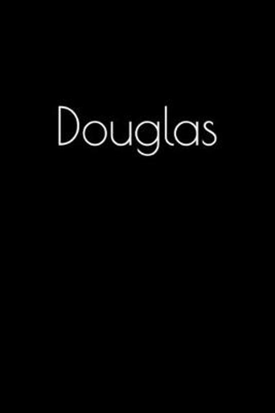 Douglas: Notebook / Journal / Diary - 6 x 9 inches (15,24 x 22,86 cm), 150 pages. Personalized for Douglas.