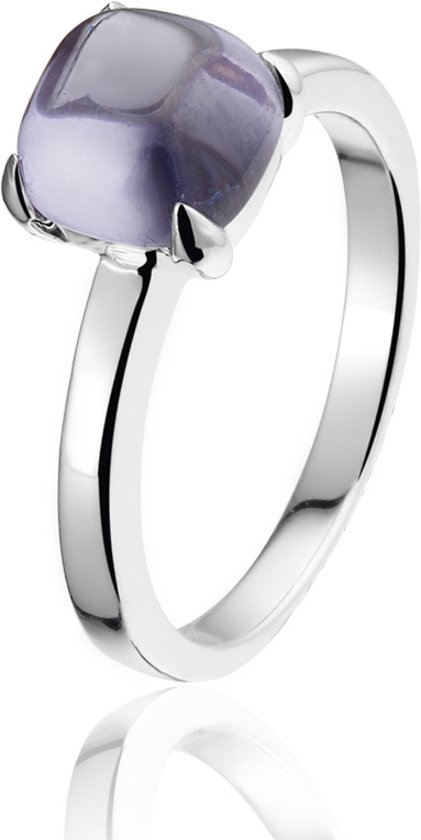 Montebello Ring Purple Accent Dames - Zilver Gerhodineerd - Zirkonia - Maat 62 - 19.8 mm
