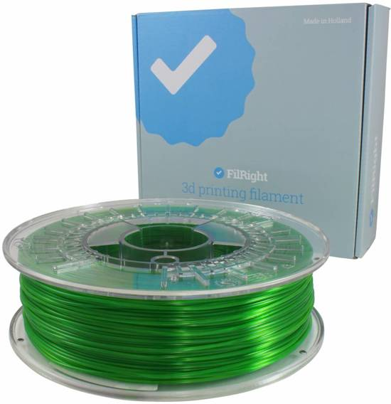 FilRight Pro PETG - 2.85mm - 750 g - Groen transparant