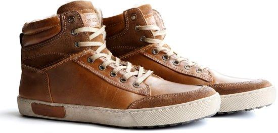 new style 2b7e4 fc37c Sneaker Hoge Cognac Heren Travelin Sandvik Bwqtt1