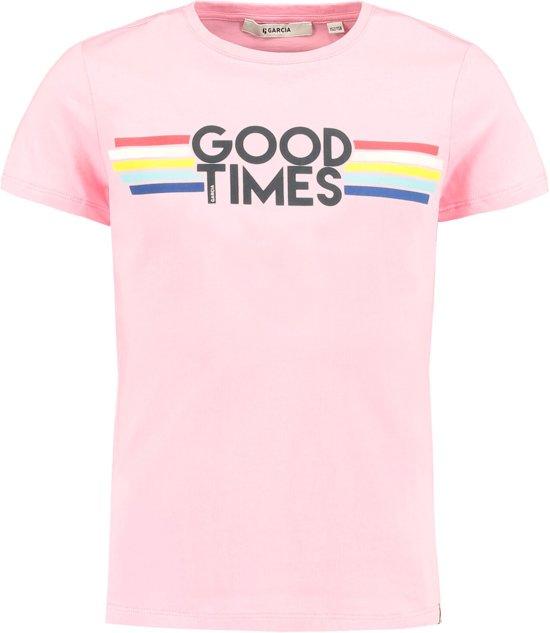 f2187f0040c57a bol.com   Garcia Meisjes T-Shirt - arcade pink - Maat 140/146