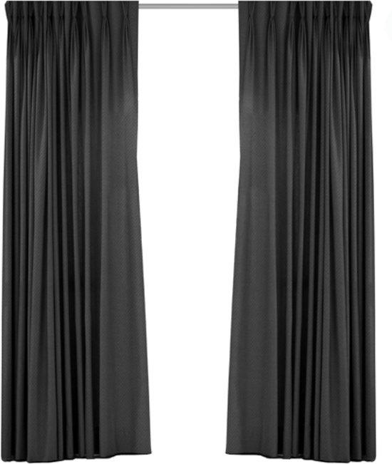 bol.com   Luxe geweven blackout gordijn met haak – grijs 1.5x2.5m ...