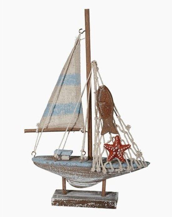 Decoratie zeilboot 21 cm miniatuur zeilboot 21 cm for Decoratie zeilboot