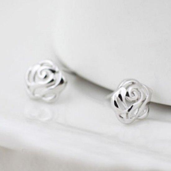 oorbellen zilver knopjes