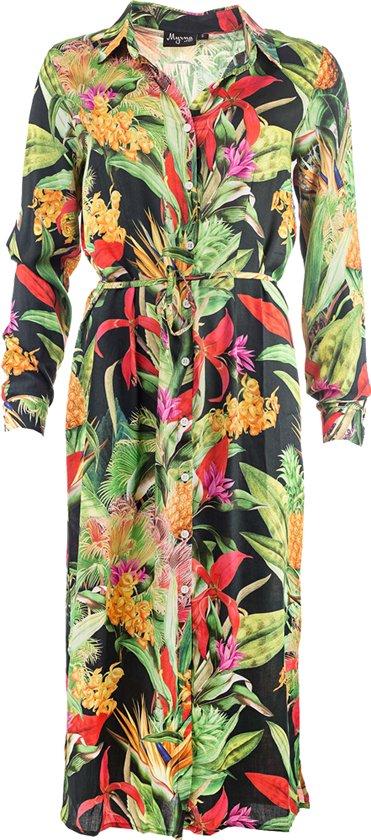 Myrna Lange blouse jurk Rose LS Navy Pineapple MYR19S-104W-03