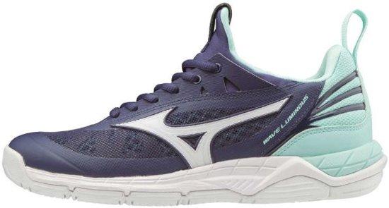 Mizuno Wave Luminous donkerblauw indoor schoenen dames (V1GC182015)