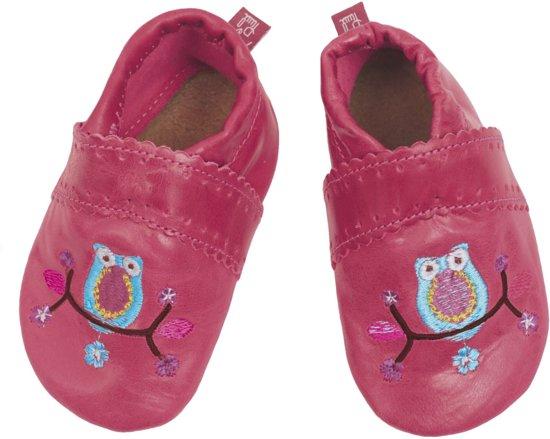 Anna und Paul babyslofjes Eule pink Maat: M (13,3 cm)