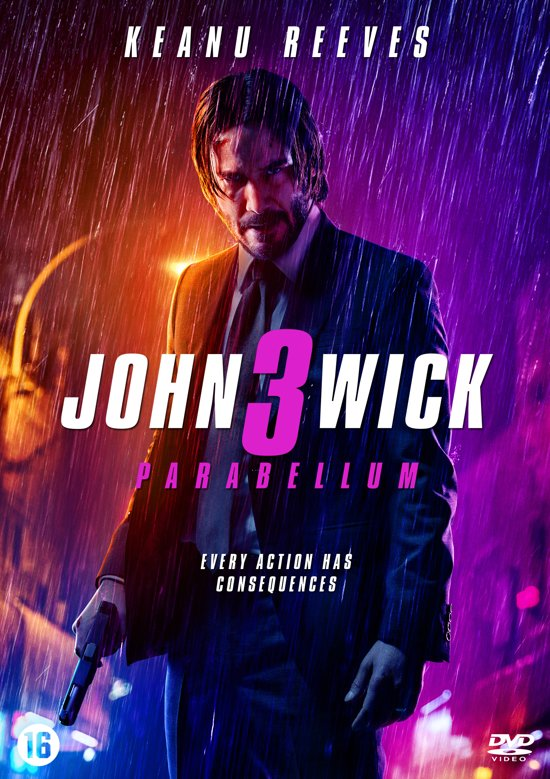 DVD cover van John Wick 3
