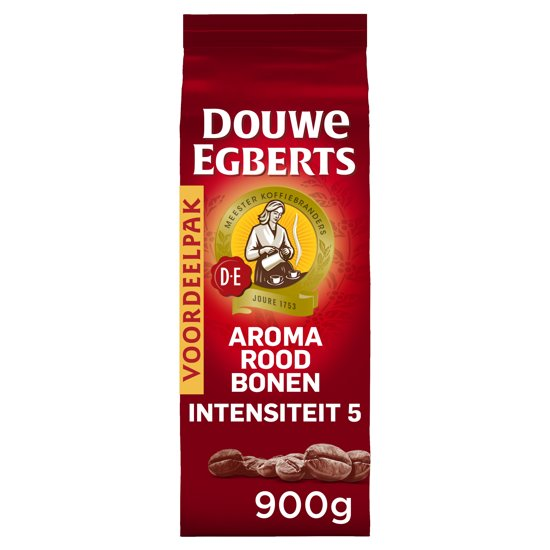 Douwe Egberts Aroma Rood Koffiebonen - 3 x 900 gram Valentinaa