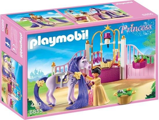 Bol playmobil koninklijke stal met paard om te kammen