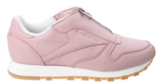 64b369bebf2 bol.com | Reebok Sneakers Classic Leather Zip Chalk Dames Roze Maat 37.5