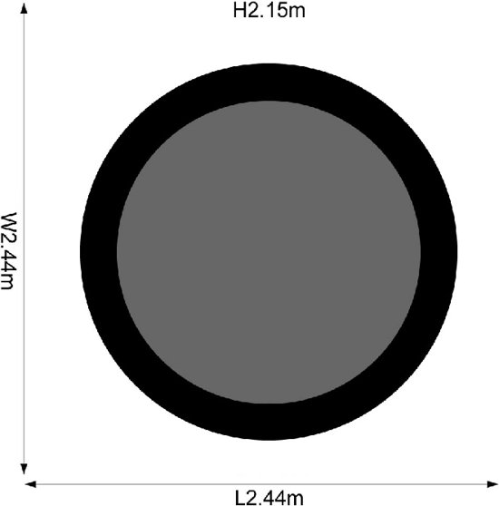 Plum Space Zone II Springsafe Trampoline à 244 cm met Veiligheidsnet